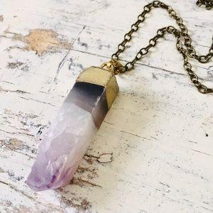 Jewelry - 2/$42 🍍 amethyst druzy crystal necklace ✨